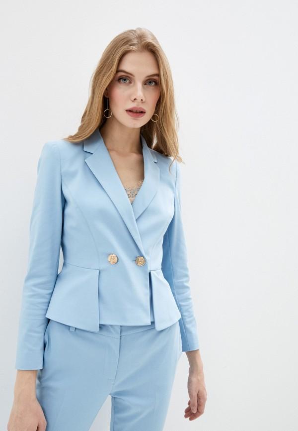 женский пиджак liu jo, голубой
