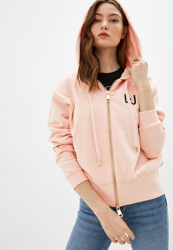 женская толстовка liu jo, розовая