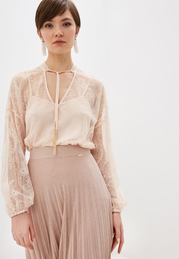 женская блузка liu jo, розовая
