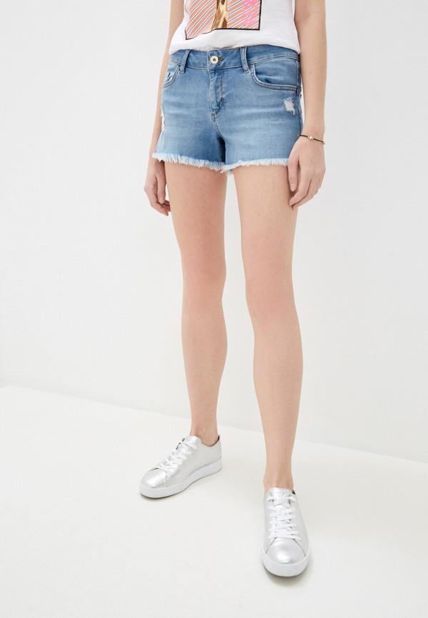 женские джинсовые шорты liu jo, голубые