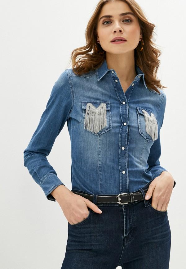 женская джинсовые рубашка liu jo, синяя