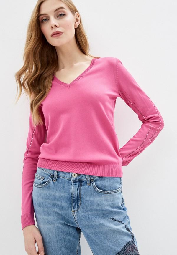 женский пуловер liu jo, розовый