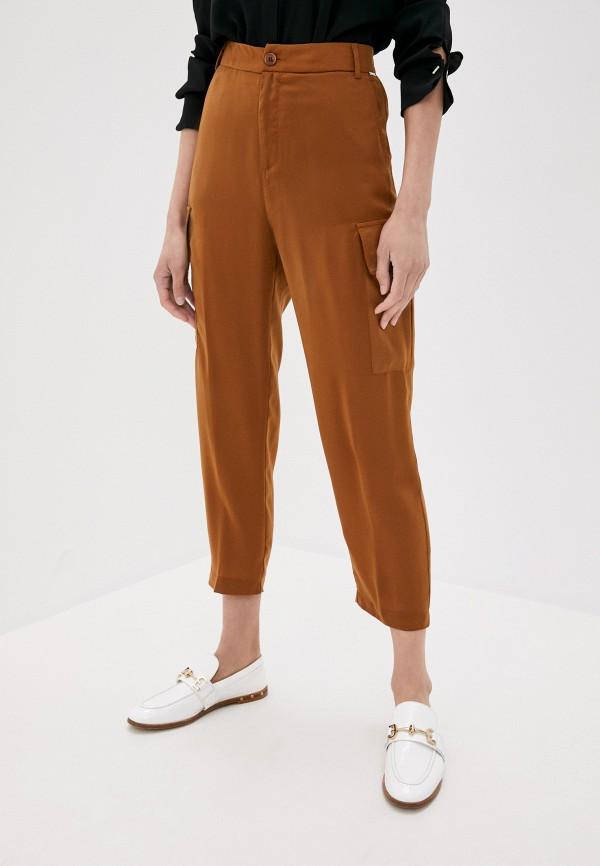 женские повседневные брюки liu jo, коричневые