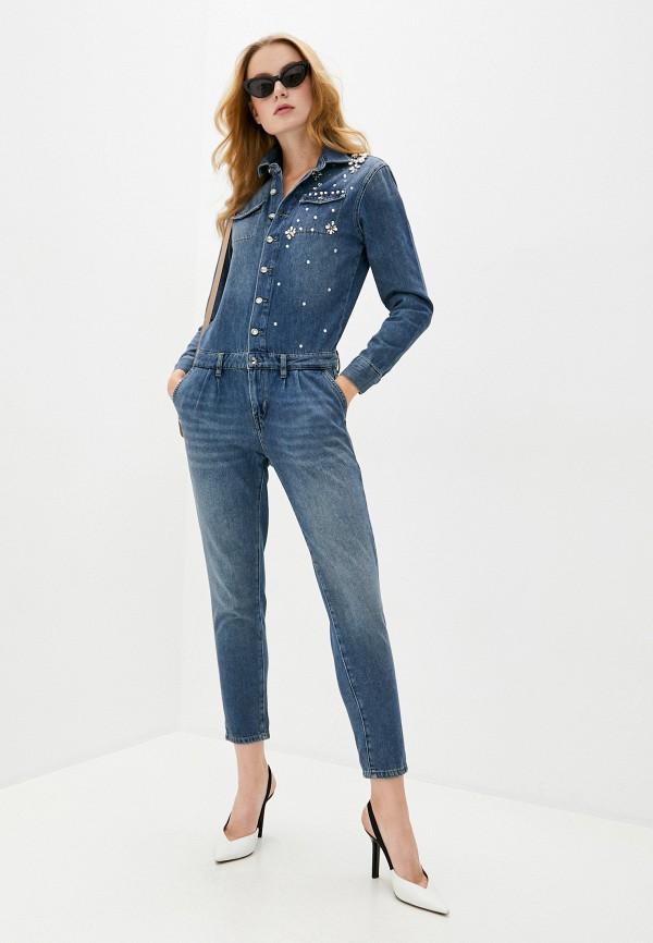 женский джинсовые комбинезон liu jo, синий