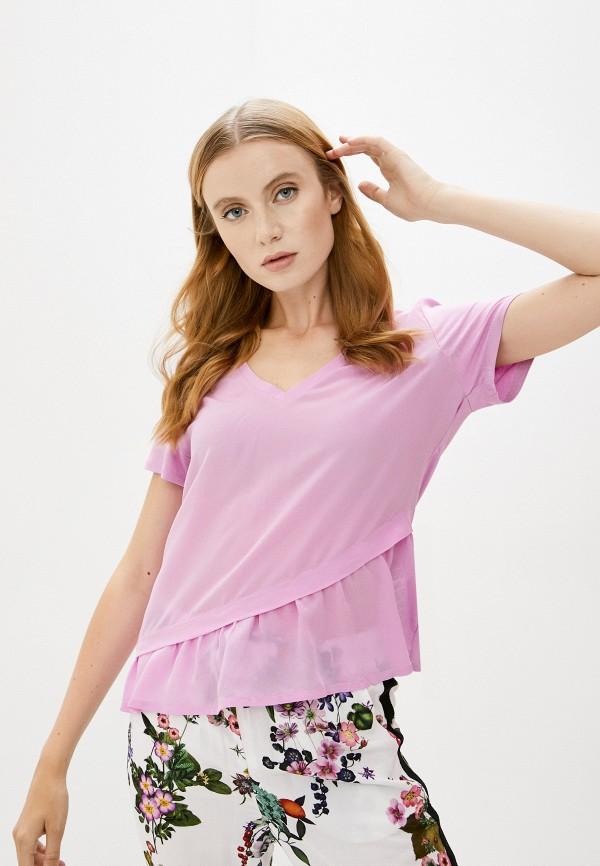 женская футболка liu jo, фиолетовая