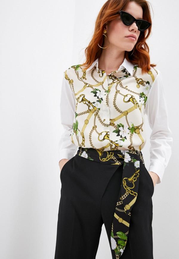 женская рубашка с длинным рукавом liu jo, бежевая