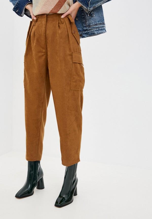 женские брюки liu jo, коричневые