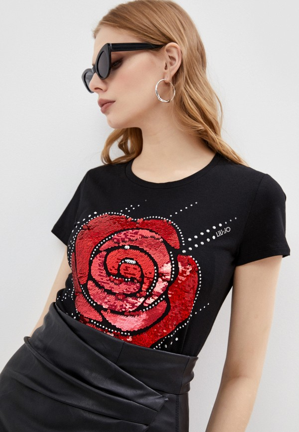 женская футболка liu jo, черная