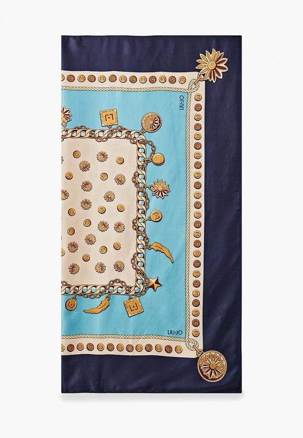 Фото 4 - женский платок Liu Jo голубого цвета