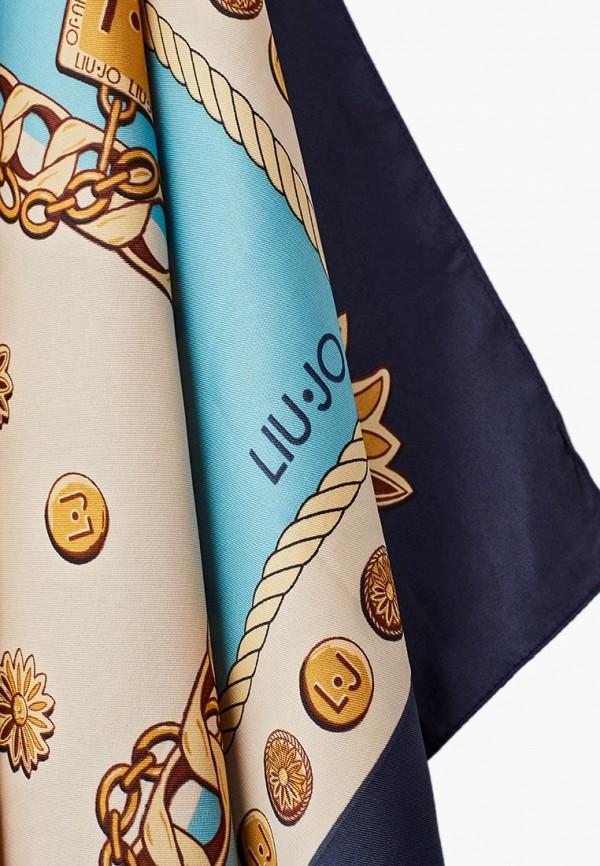 Фото 5 - женский платок Liu Jo голубого цвета