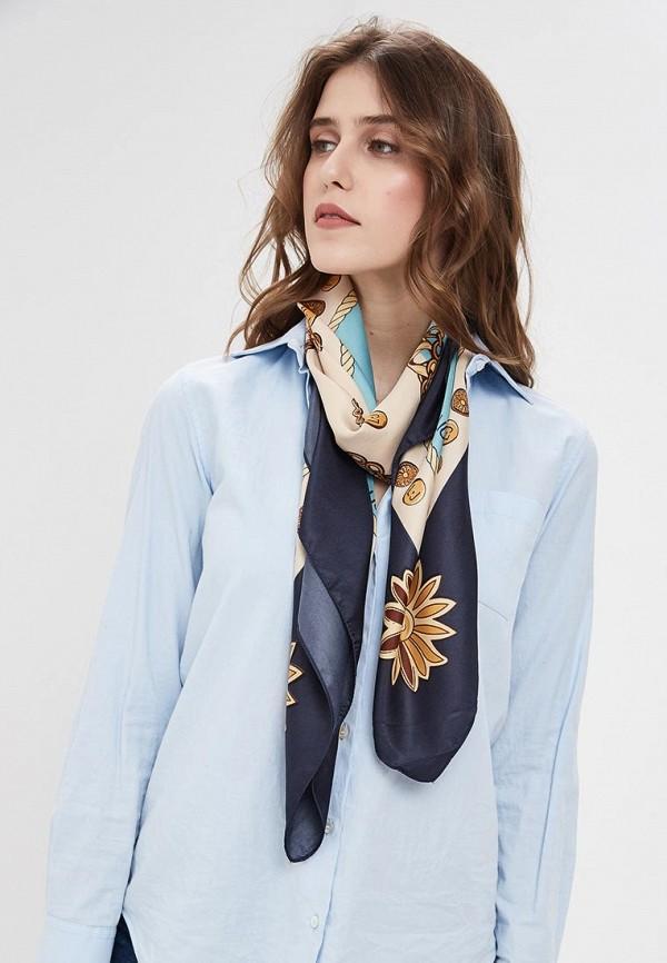 Фото 3 - женский платок Liu Jo голубого цвета