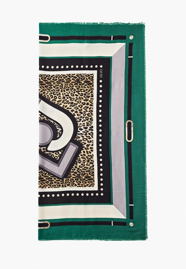 женский платок liu jo, бирюзовый