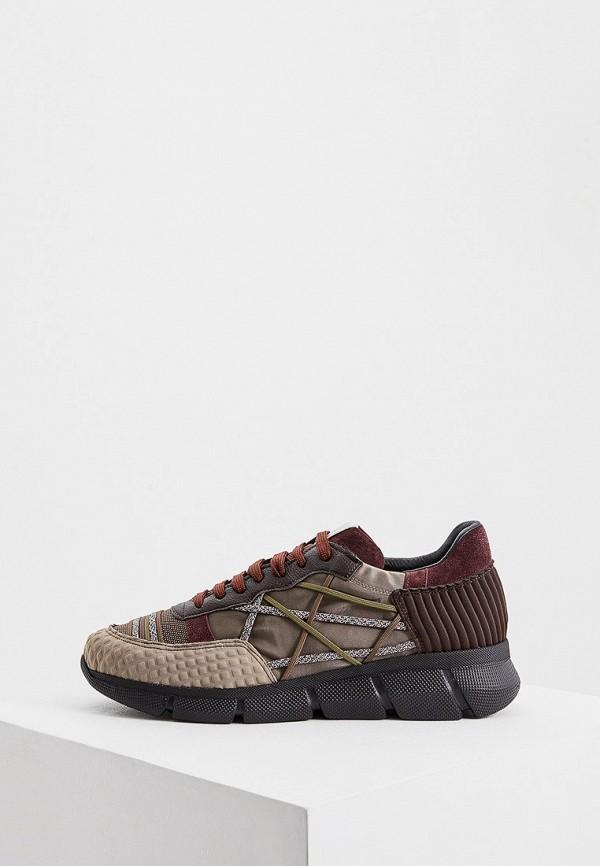 мужские кроссовки l4k3, коричневые