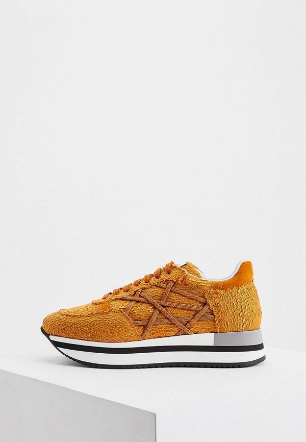 женские кроссовки l4k3, оранжевые