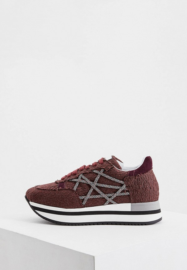 женские кроссовки l4k3, бордовые