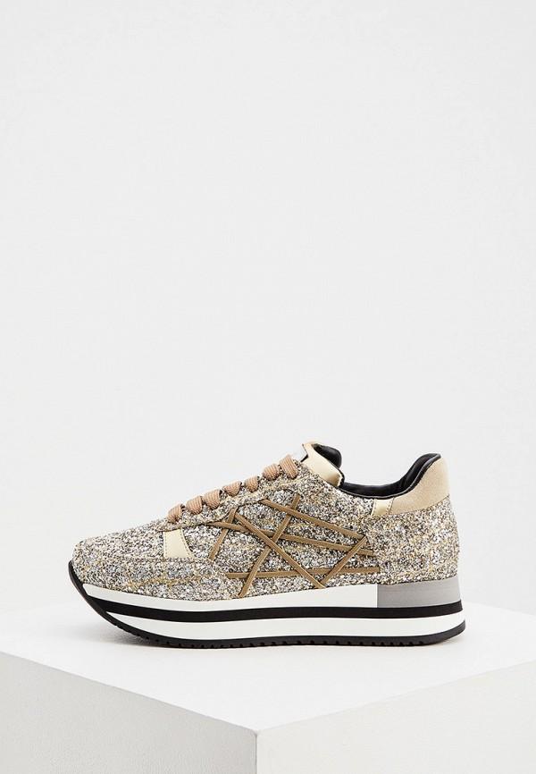 женские кроссовки l4k3, серебряные