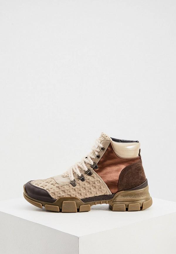 женские ботинки l4k3, бежевые