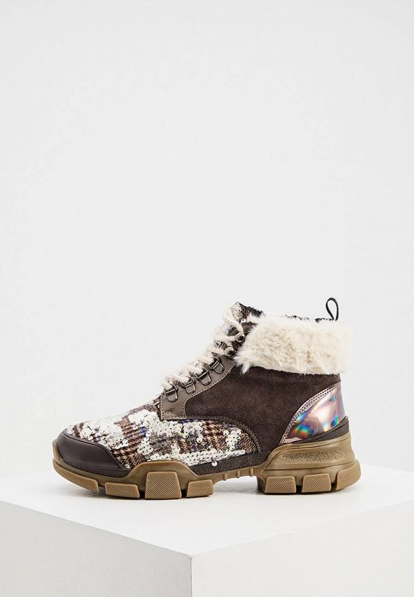 женские ботинки l4k3, коричневые