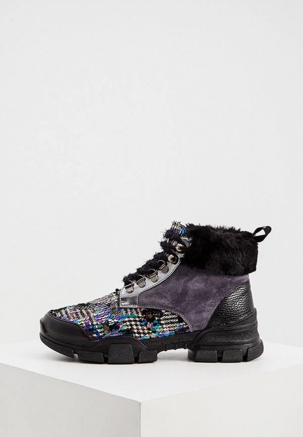 женские ботинки l4k3, серые