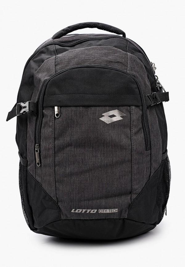 женский рюкзак lotto, черный