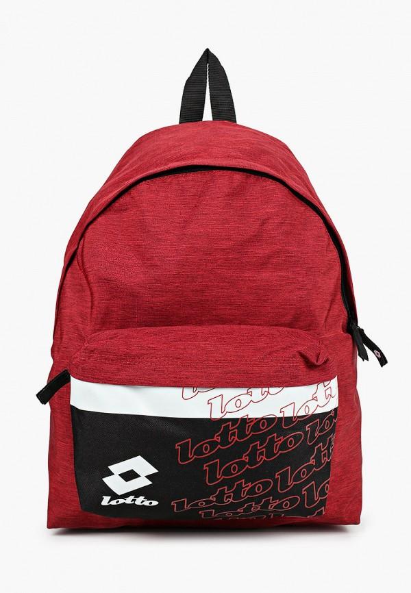 женский рюкзак lotto, бордовый