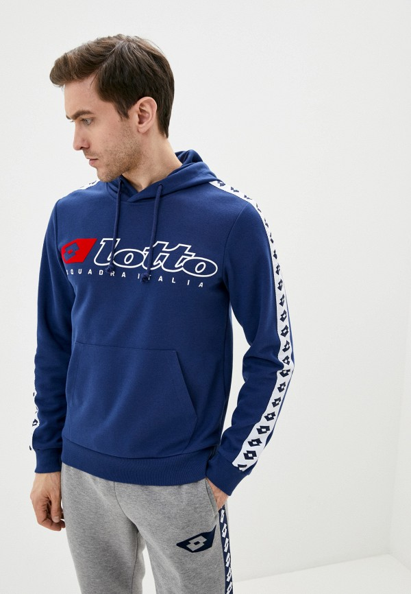 мужские худи lotto, синие