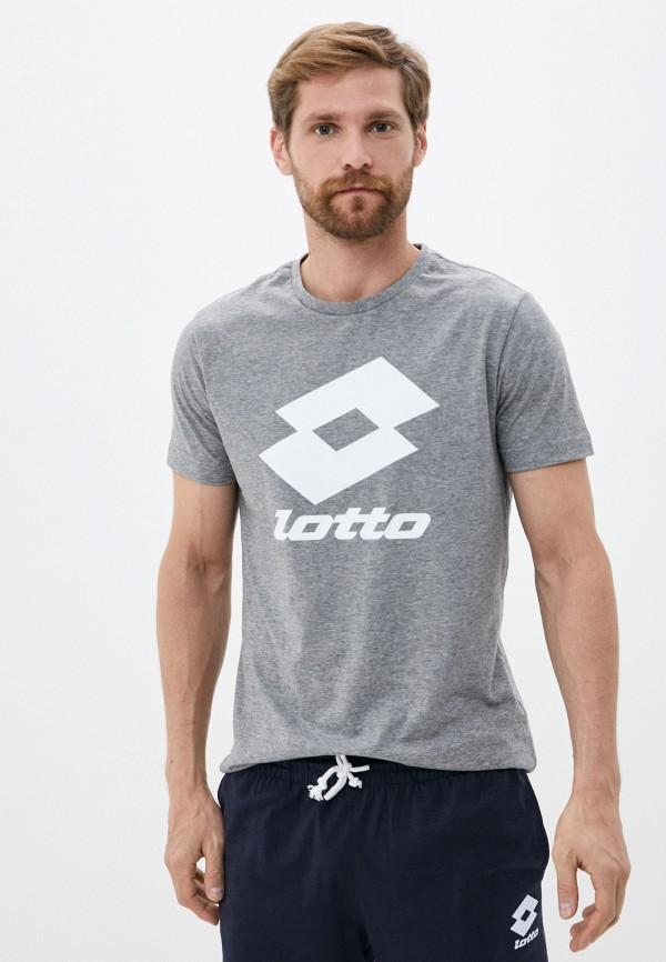 мужская спортивные футболка lotto, серая