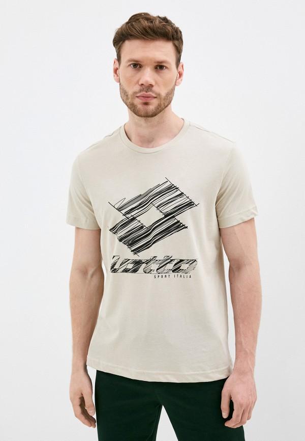 мужская спортивные футболка lotto, бежевая