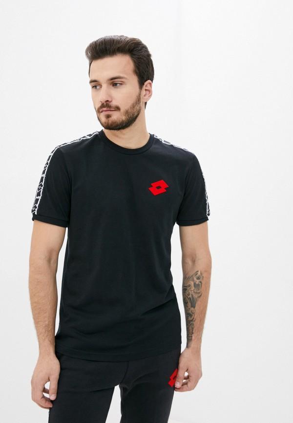 мужская спортивные футболка lotto, черная