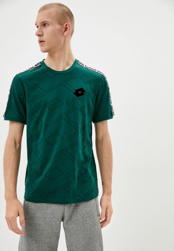 мужская спортивные футболка lotto, зеленая