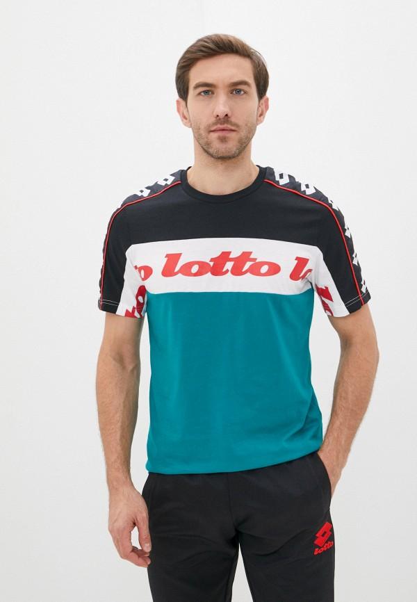 мужская спортивные футболка lotto, бирюзовая