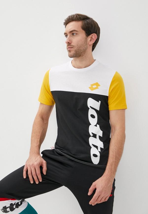мужская спортивные футболка lotto, разноцветная