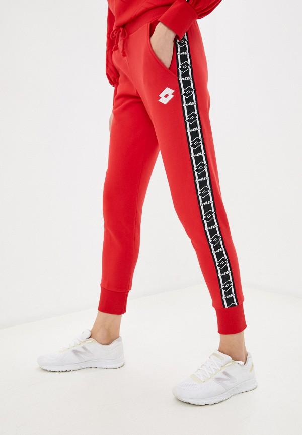 женские спортивные брюки lotto, красные