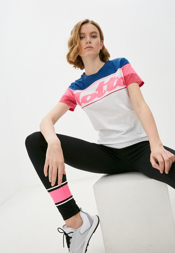 женская спортивные футболка lotto, белая