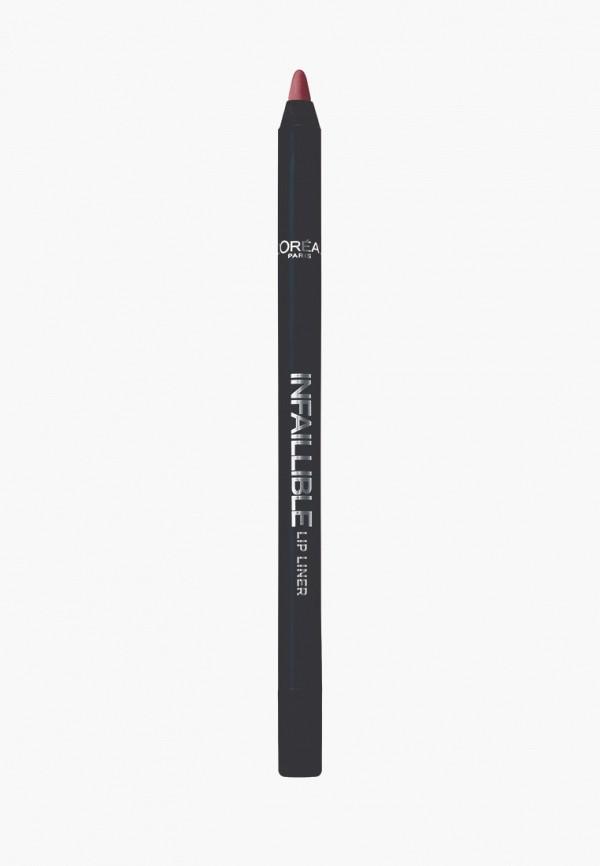 карандаш для губ l'oreal paris, коричневый