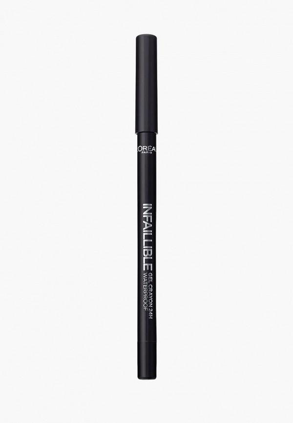 карандаш для глаз l'oreal paris, черный