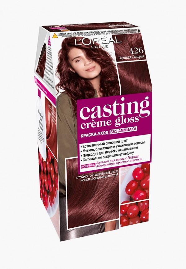 краска для волос l'oreal paris, бордовый