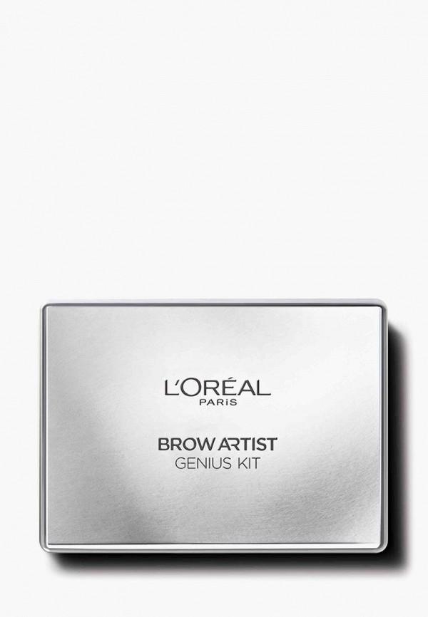 Купить Тени для бровей L'Oreal Paris, Профессиональный набор для дизайна бровей Brow Artist , оттенок 01, светло-коричневый, 52 г, lo006lwfqz53, Осень-зима 2018/2019