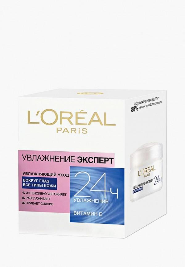 Купить Крем для кожи вокруг глаз L'Oreal Paris, Увлажнение Эксперт, lo006lwgof21, прозрачный, Осень-зима 2018/2019