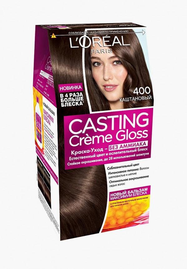 Купить Краска для волос L'Oreal Paris, Casting Creme Gloss , стойкая, без аммиака, оттенок 400, Каштан, lo006lwiiw84, коричневый, Весна-лето 2019