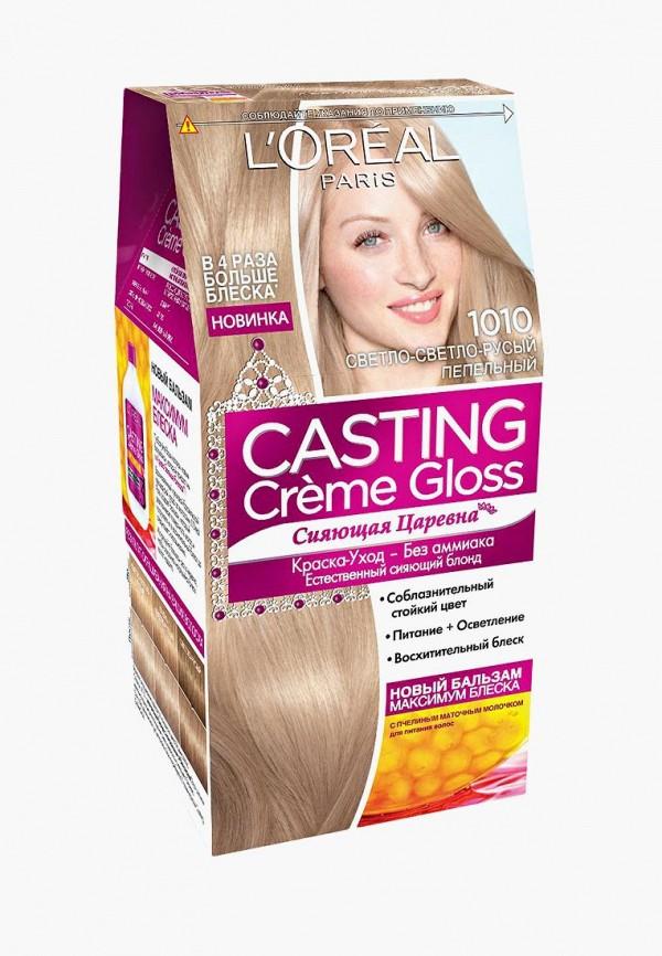 Купить Краска для волос L'Oreal Paris, Casting Creme Gloss, 1010 Светло-светло-русо-пепельный, lo006lwiiw94, Весна-лето 2019
