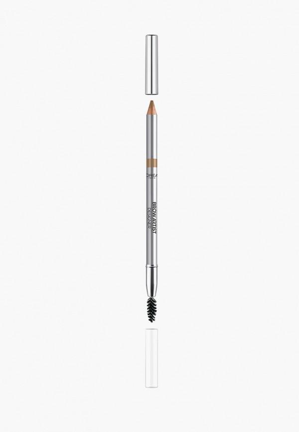 карандаш для бровей l'oreal paris, коричневый