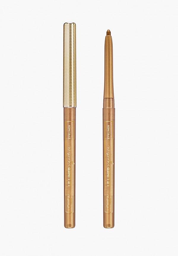 женский карандаш для глаз l'oreal paris, золотой