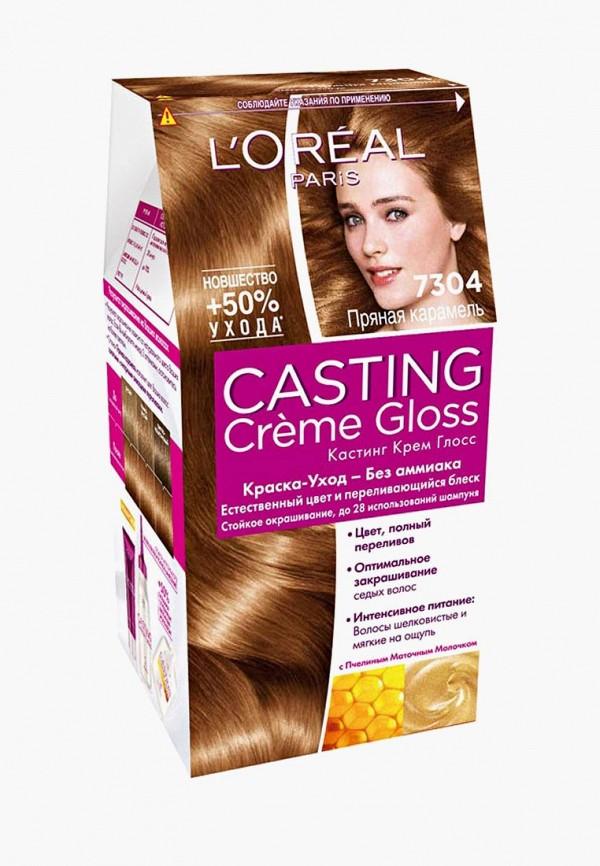 Купить Краска для волос L'Oreal Paris, Casting Creme Gloss, оттенок 7304, Пряная карамель, lo006lwivo75, прозрачный, Весна-лето 2019