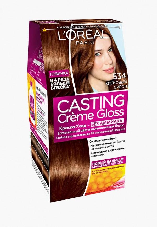 Купить Краска для волос L'Oreal Paris, Casting Creme Gloss, оттенок 534, Кленовый сироп, lo006lwivo78, Весна-лето 2019