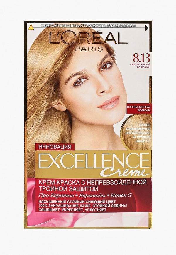 Купить Краска для волос L'Oreal Paris, Excellence , стойкая, оттенок 8.13, Светло-русый бежевый, lo006lwivp10, Осень-зима 2018/2019