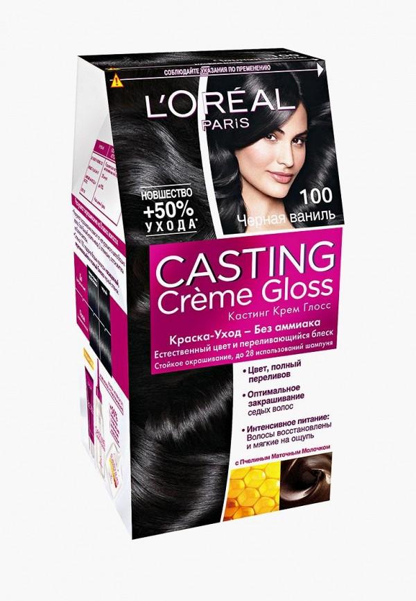 Купить Краска для волос L'Oreal Paris, Casting Creme Gloss, оттенок 100, Черная ваниль, 254 мл, lo006lwjlc52, Весна-лето 2019