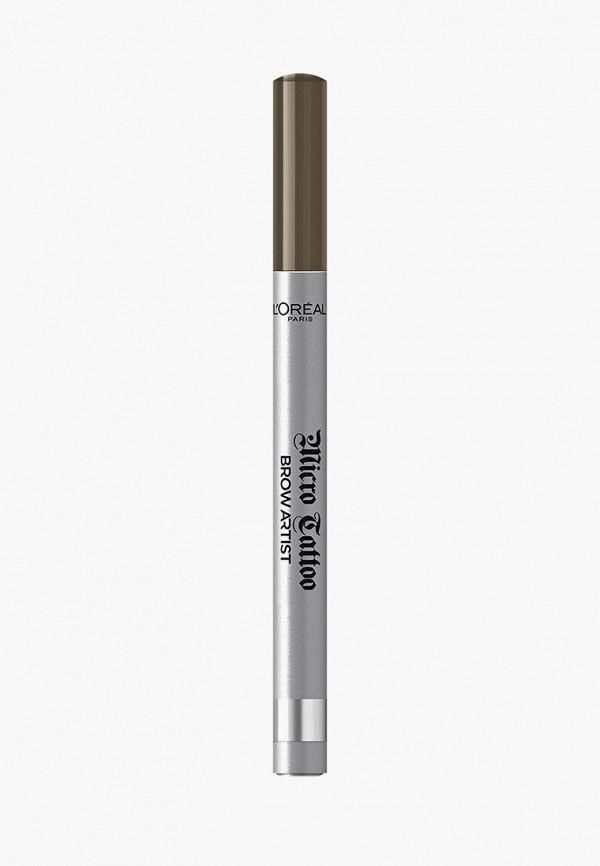 женский карандаш для бровей l'oreal paris, коричневый