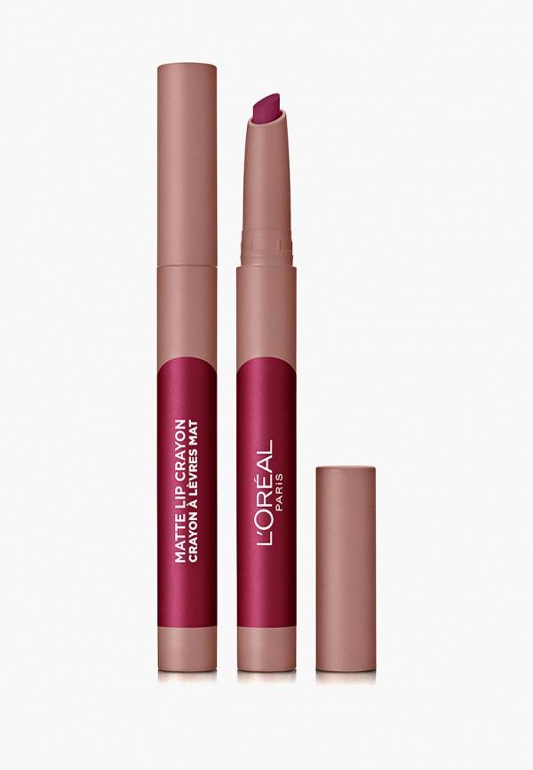 женский карандаш для губ l'oreal paris, бордовый