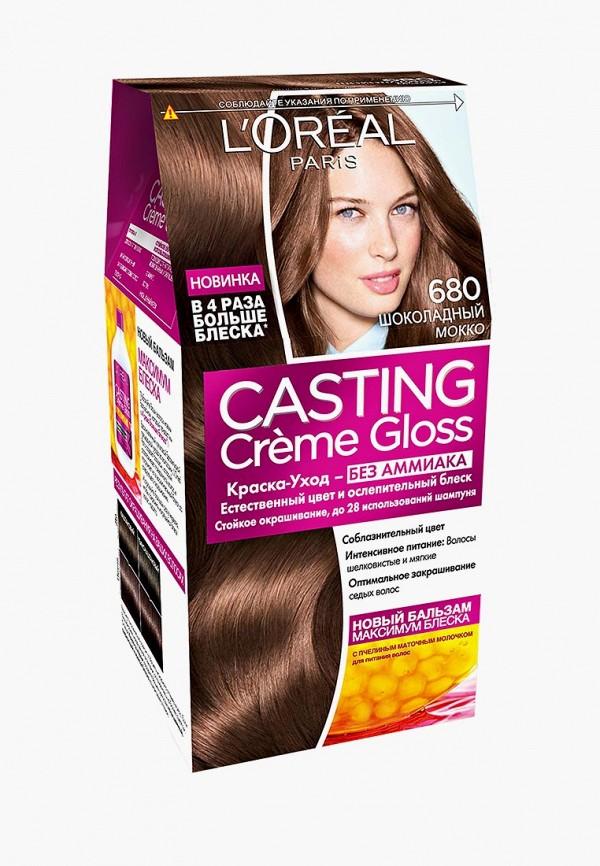 Купить Краска для волос L'Oreal Paris, Casting Creme Gloss 680 Шоколадный Мокко, lo006lwlog27, Осень-зима 2018/2019